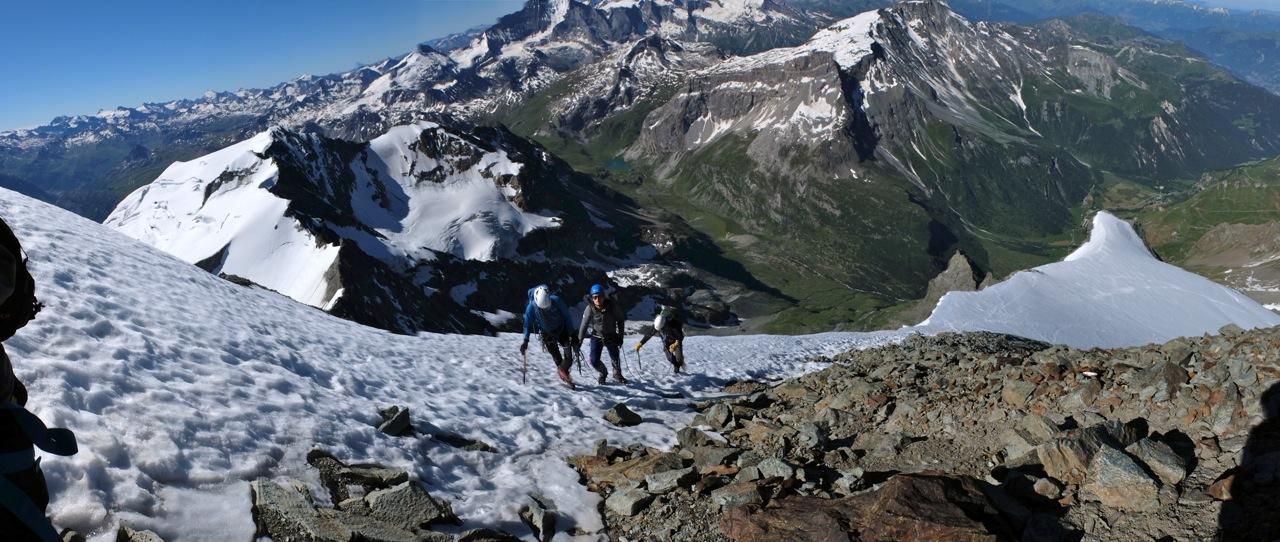 En arrivant au sommet du Mont Pourri