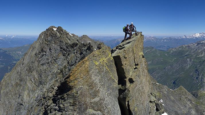 Course de rocher avec le bureau des guides des Arcs Peisey Vallandry