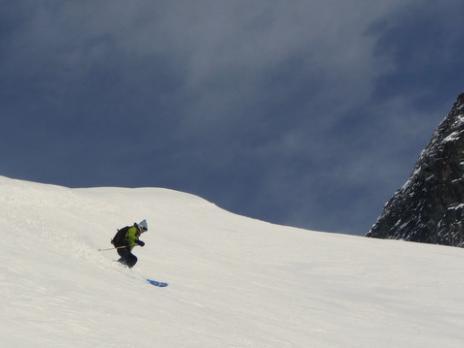 Descente du glacier du Geay Mont Pourri - massif de la Vanoise