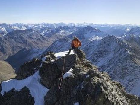 à 10 min du sommet.