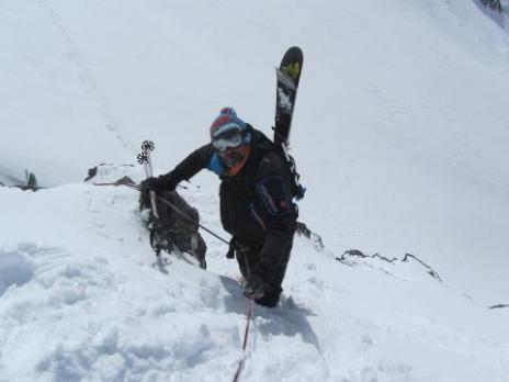 Passage du col des Roches vers le glacier du Geay - Vanoise