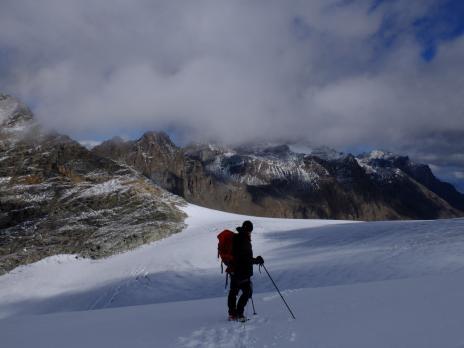 Sur le glacier de Rhemes Golette