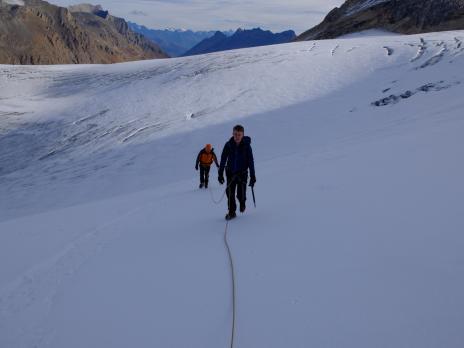 Sur le glacier de Rhème Golette