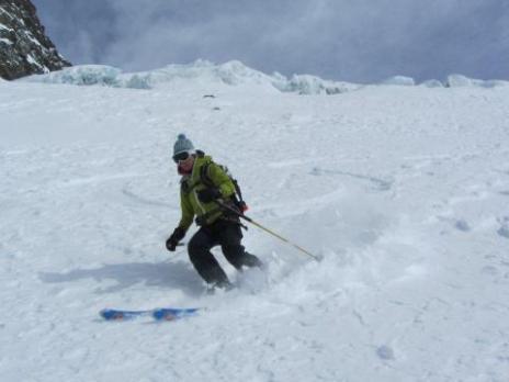 Descente du glacier du Geay - guides des Arcs
