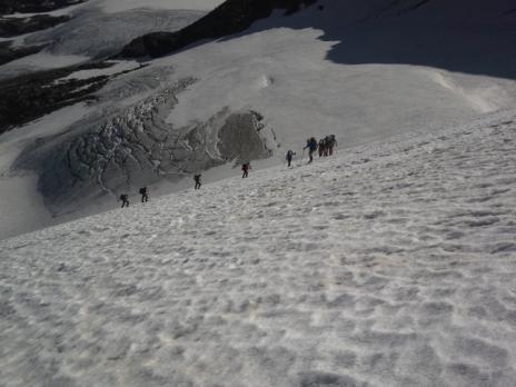 Sur la Glacier de la Gd Aiguille Rousse