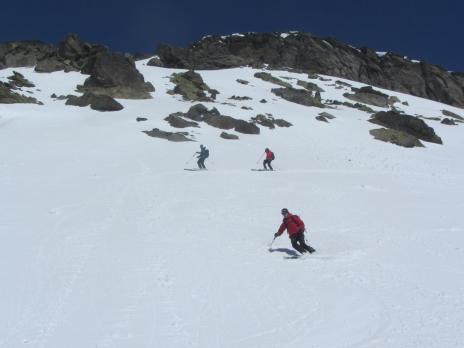 ski de randonnée en Tarentaise - descente Pointe Rousse
