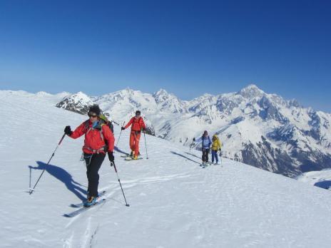 Ski de randonnée au départ du refuge du Ruitor - Vanoise