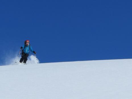 Ski de randonnée vallée de Névache, descente sur le refuge Ricou