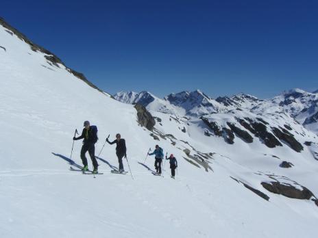 ski de randonnée en Tarentaise - montée à la pointe rousse