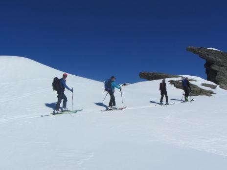 ski de randonnée en Vanoise - montée à la pointe rousse