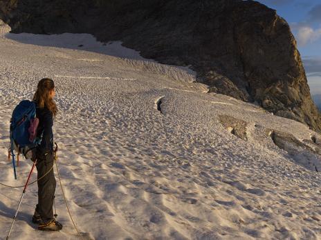 sur le glacier de Rosolin