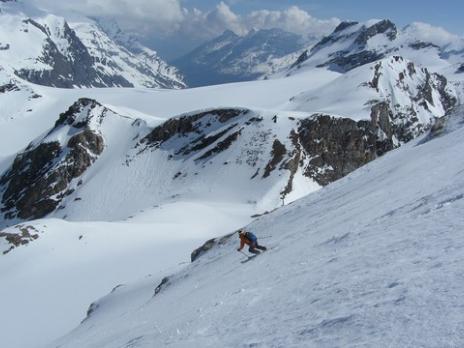 Ski de randonnée face nord de la Tsanteleina
