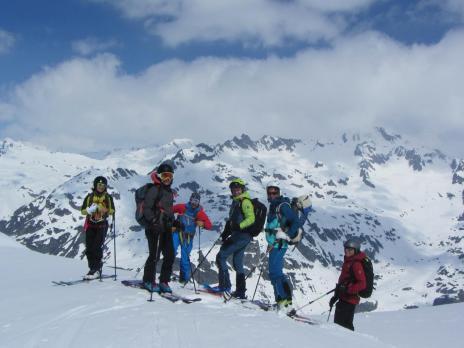 Ski de randonnée en Vanoise l' Arête de Montséti