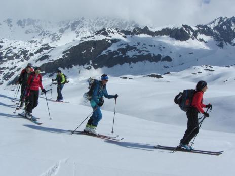Ski de randonnée en Vanoise montée aux l' Arête de Montséti