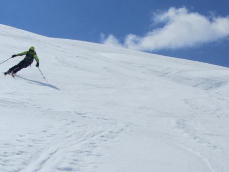 Ski de randonnée en Vanoise montée - l' Arête de Montséti