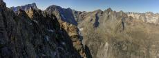Passage versant nord facile pour rejoindre la pointe Barbier